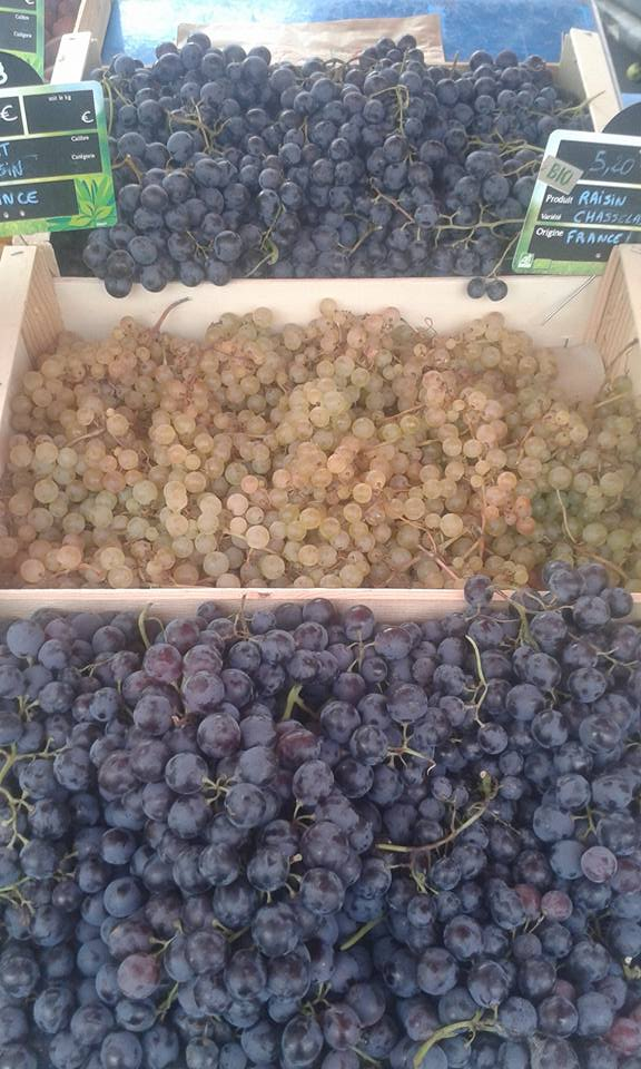 raisin noir muscat France 8.80€ le kilo