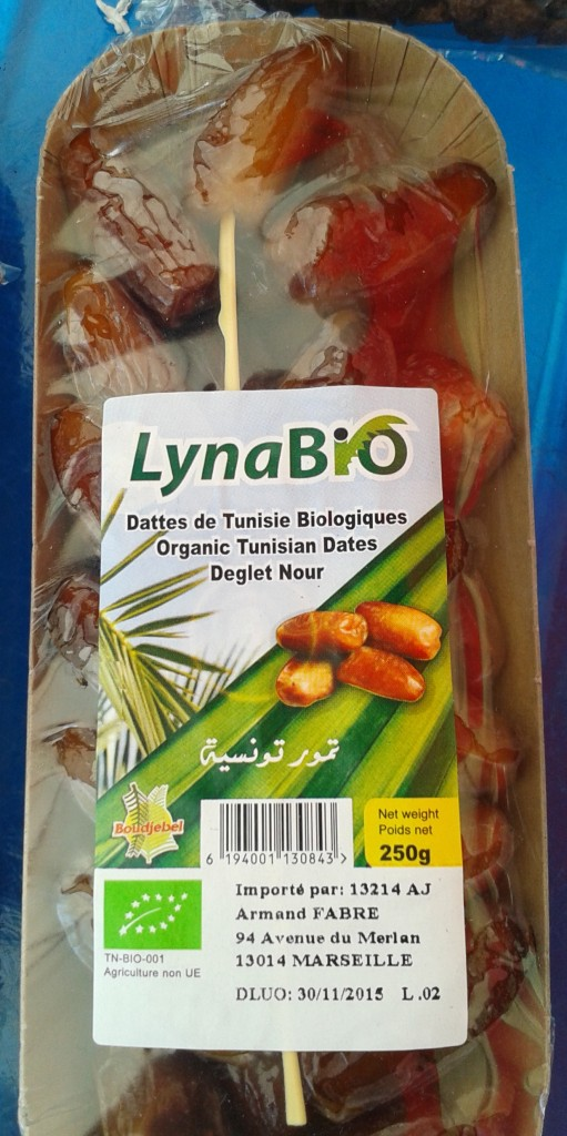 Datte ravier tunisie barquette 250g : 3€