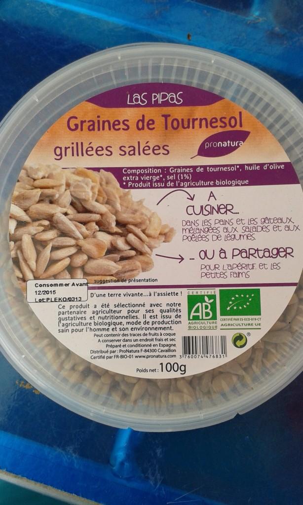 Graine de Tournesol decortiquée grillée salée roumanie  100g : 3€
